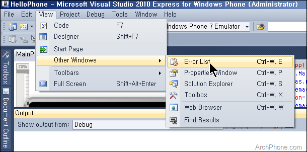 Creating_a_WP7_Application_Project_in_VS2010_14