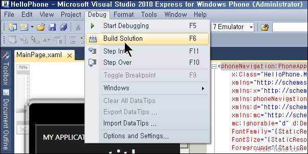 Creating_a_WP7_Application_Project_in_VS2010_12