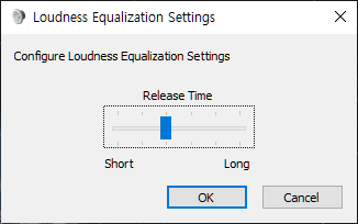 Loudness Equalization Settings  Configure Loudness Equalization Settngs  Release Time  Long